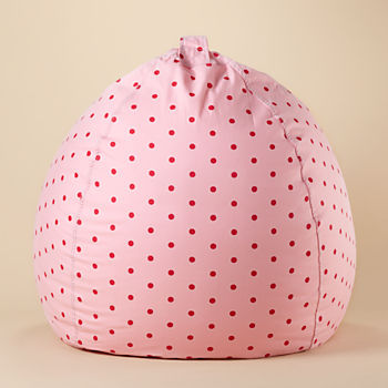 Large Pink Dot Bean Bag Chair