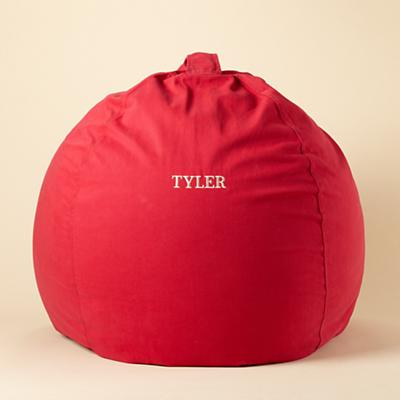 "40"" Personalized Red Ginormous Bean Bag Cover"