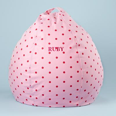 "30"" Personalized Bean Bag (Pink Dots)"