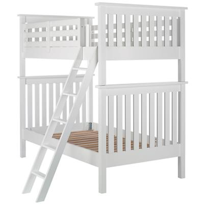 Twin Simple Bunk Bed (White)
