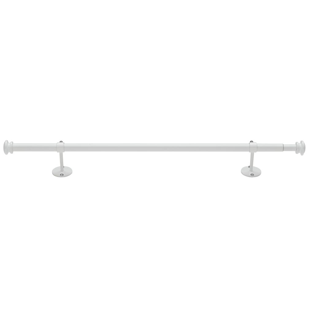 "28-48"" White Button Cap Single Rod"