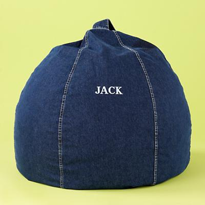 Denim Personalized Beanbag Chair includes Cover and Insert