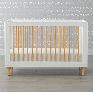 Greenguard Certified Babyletto Lolly White & Natual 3 in 1 Convertible Crib