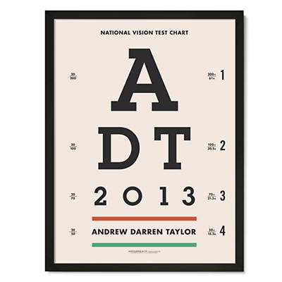 Eye Chart Personalized Wall Art