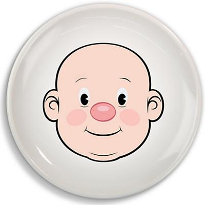 Boy Food Face Plate