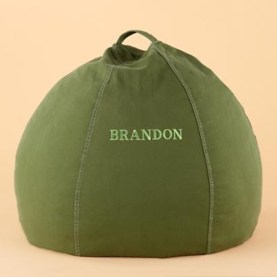 "30"" Green Personalized Beanbag Cover Only"
