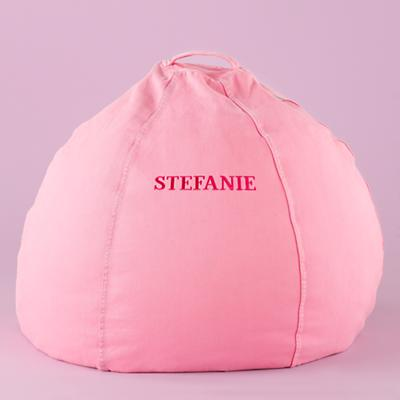 "30"" Pink Personalized Beanbag Chair Cover Only"