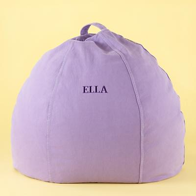 Lavender Personalized Beanbag Chair includes Cover and Insert
