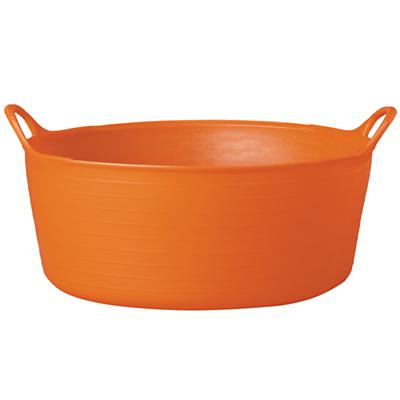 Small Shallow Orange Tub